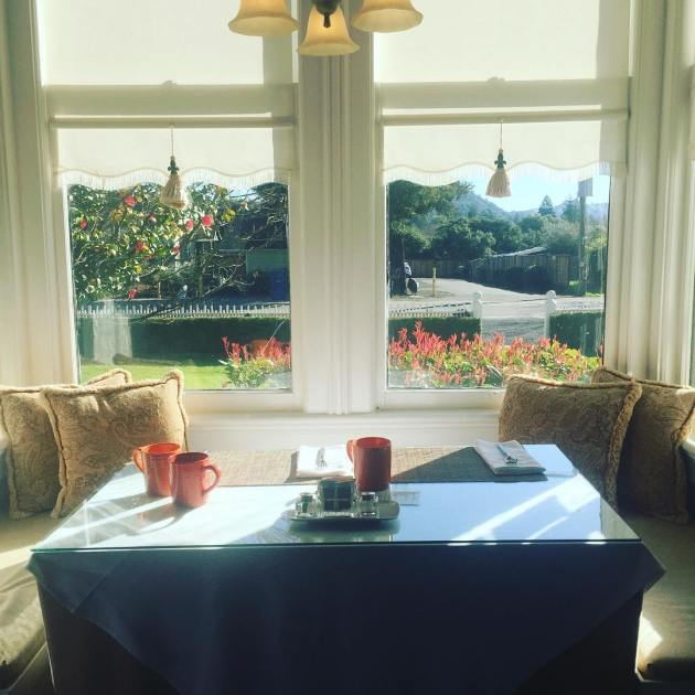 Breakfast nook at the Honor Mansion
