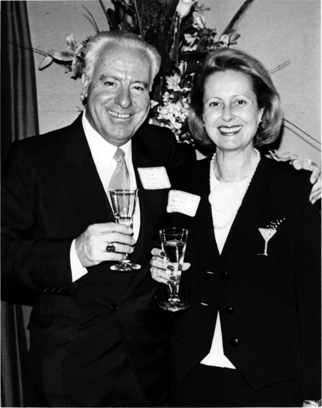 José and Gloria Ferrer at the 1986 opening of Gloria Ferrer Caves & Vineyards in Sonoma, CA. (Photo: © Gloria Ferrer Caves & Vineyards,  1986)
