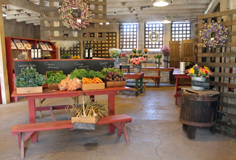 Farm store at Oak Hill Farm, Sonoma, California