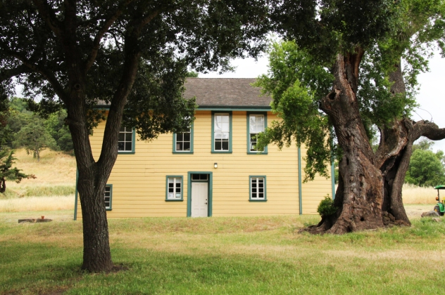 The Burdell's Frame House serves as the park office and visitor center. It was built in the 1870s.