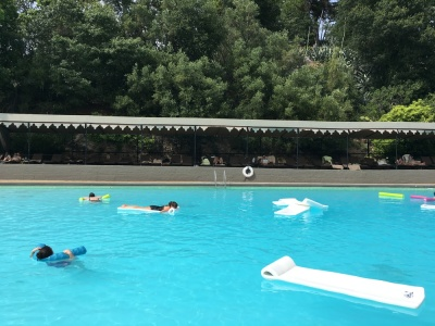 Pool at Indian Springs in Calistoga, California