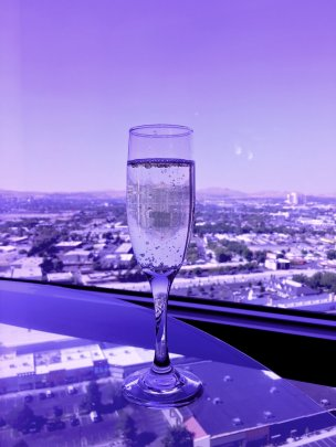 Bubbles at Concierge Lounge at Atlantis Casino Resort Spa, Reno, Nevada