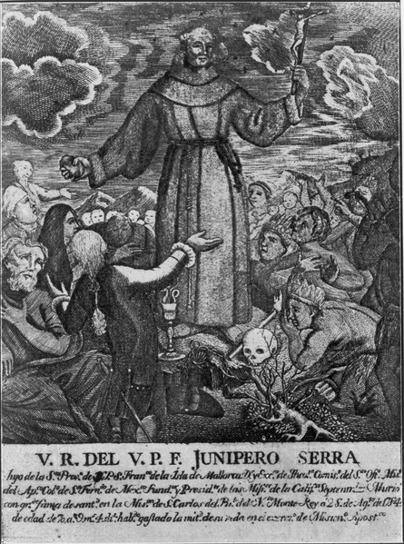 Junipero Serra preaches to Native peoples, 1787