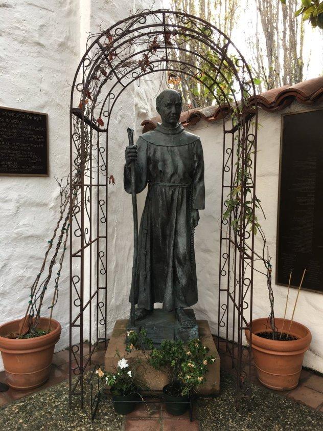 Junipero Serra statue next to the museum