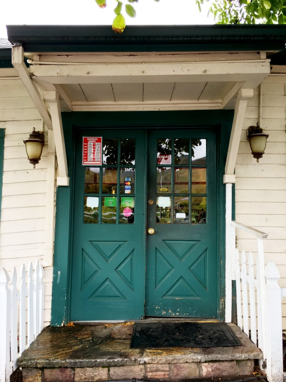 The door of Cafe Citti, Kenwood, California