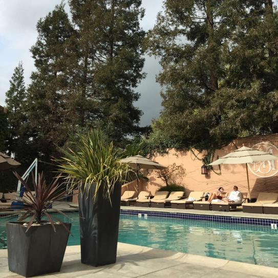 Poolside at the Willow Stream Spa at the Fairmont Sonoma Mission Inn & Spa, Sonoma, California - Stierch