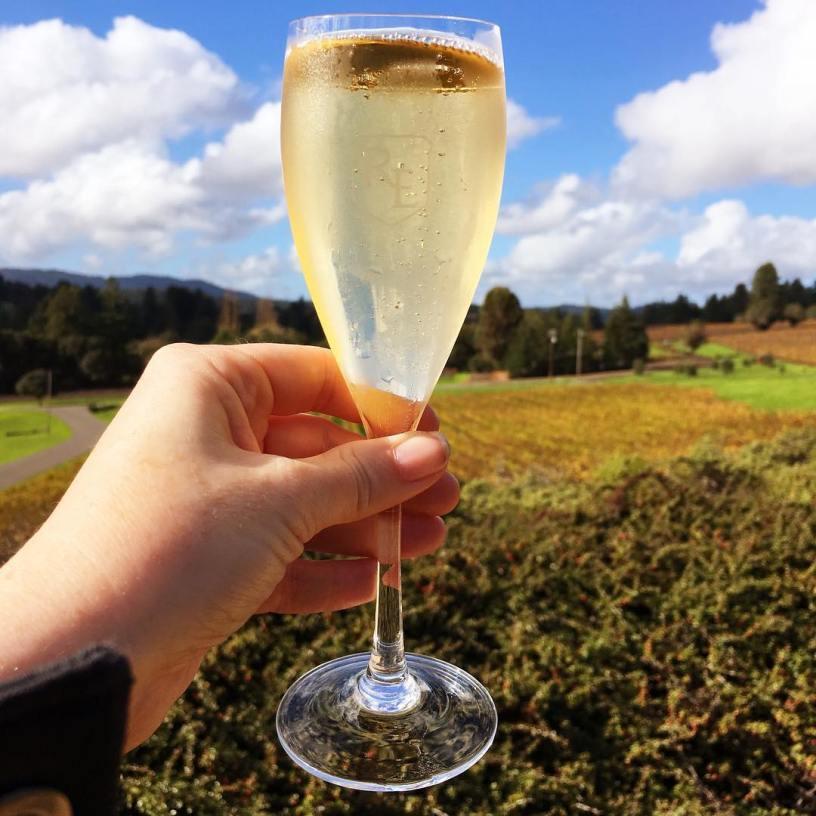 Wine tasting at Roederer Estates, Philo, California