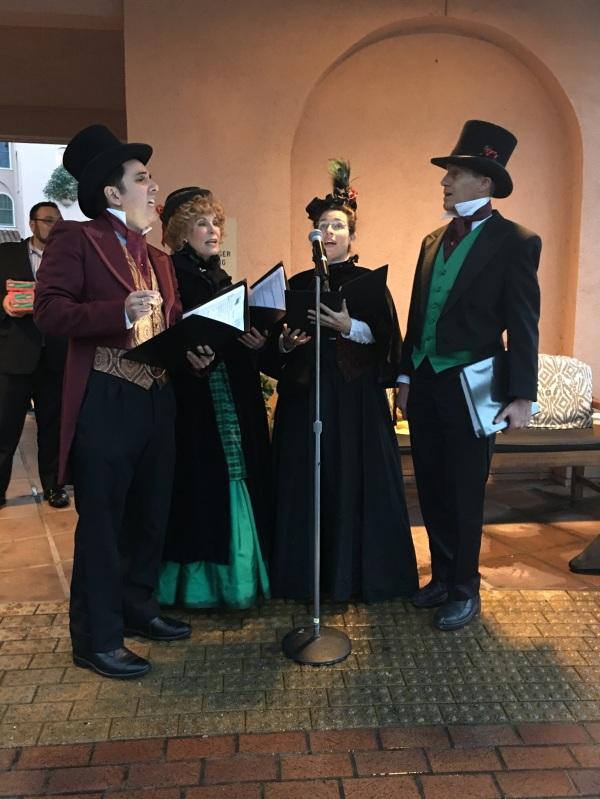 Victorian carolers at the Fairmont Sonoma Mission Inn in Sonoma, California