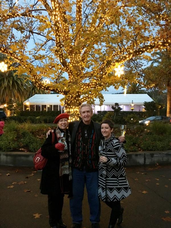 Tree lighting at the Fairmont Sonoma Mission Inn, Sonoma, California