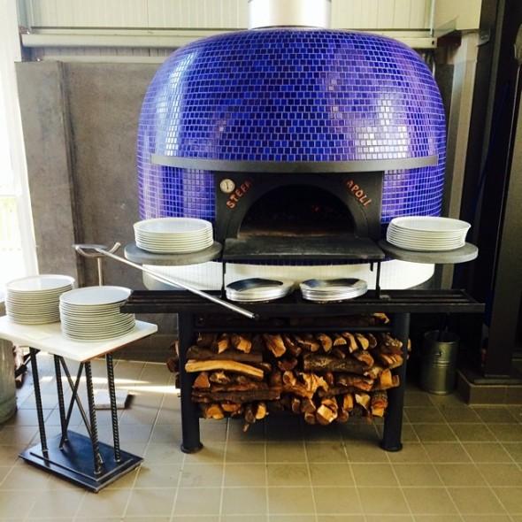 Wood-fired oven at Vignette Pizzeria, Sebastopol, California