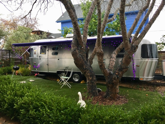 Airstream trailer at Metro Hotel & Cafe, Petaluma, California