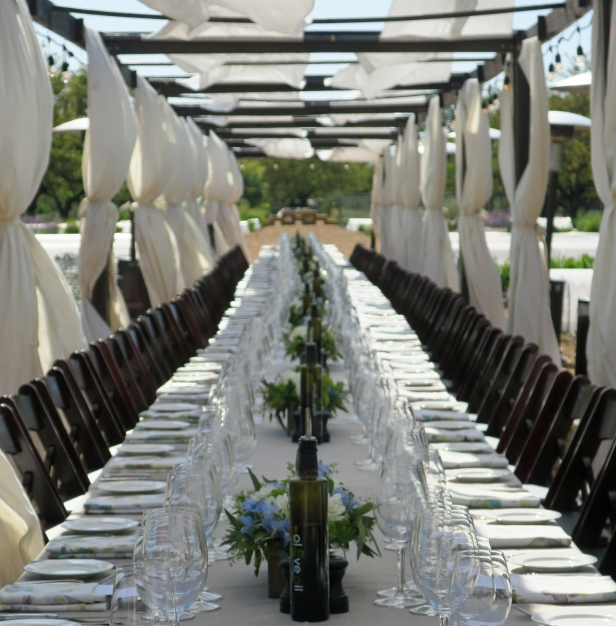 Dining table at Kendall-Jackson's Farm-To-Table Dinner Series